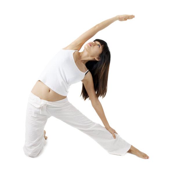 yogi pratiquant un asana
